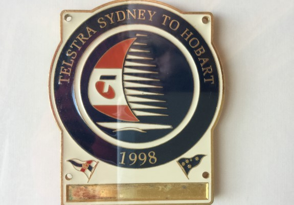 Competitior plaque 1998 Sydney to Hobart race