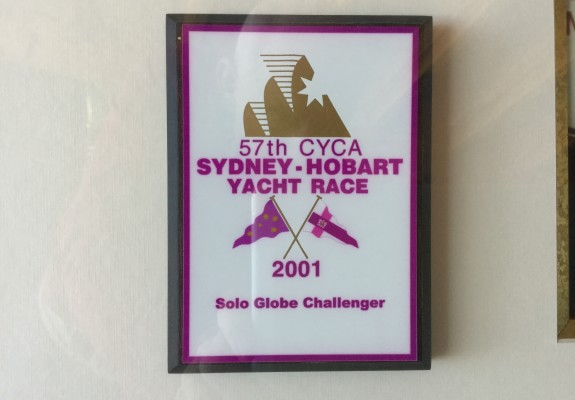Competitor plaque 2001 Sydney to Hobart race