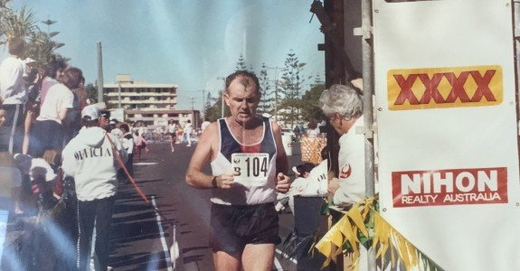 Finishing 1st marathon in 1988 in a lot of pain