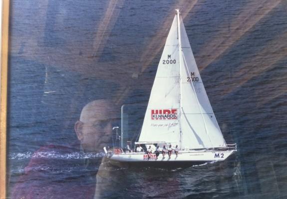 Heading to finish line 2001 Sydney to Hobart race