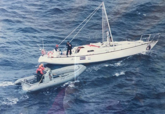 When the Navy found us in 1998 Sydney to Hobart race - image