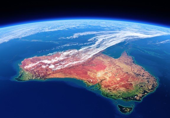 Australia seen from space - Earth daytime series (Elements of th